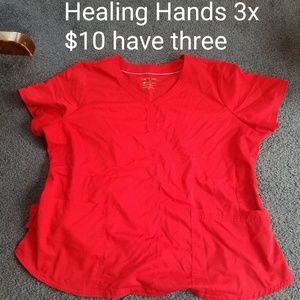 Healing Hands scrub top